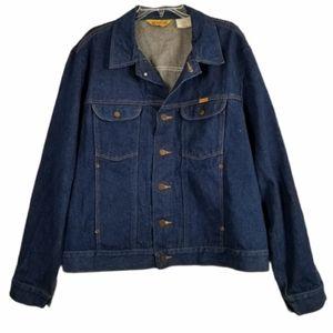 Rustler Vtg XL Trucker Denim Jacket Dark Wash